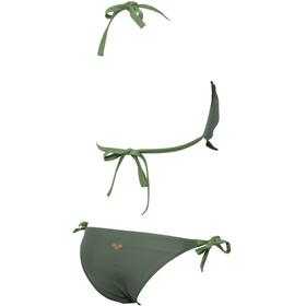 arena Solid Bandeau Bikini Women army/army